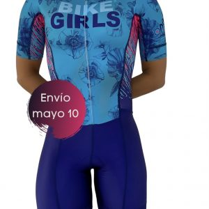 Enterizo Ciclismo – Amapola Turquesa Bike Girls